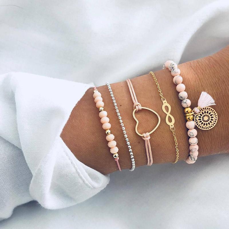 Women's Bohemian Style Bracelets Set