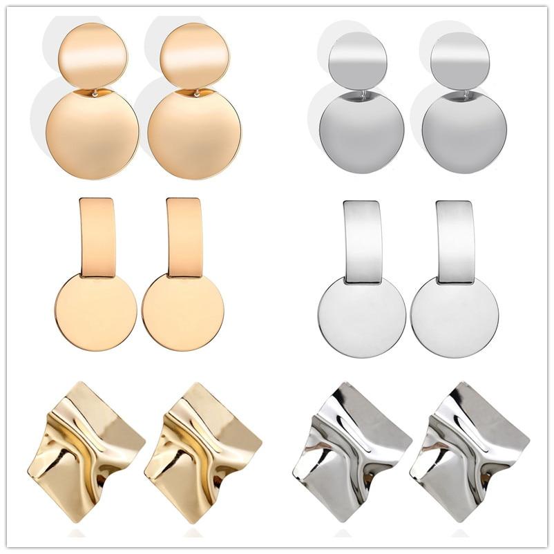 Women's Large Geometric Earrings